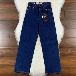 Levi's Life's Work Ribcage Straight Ankle Jeans